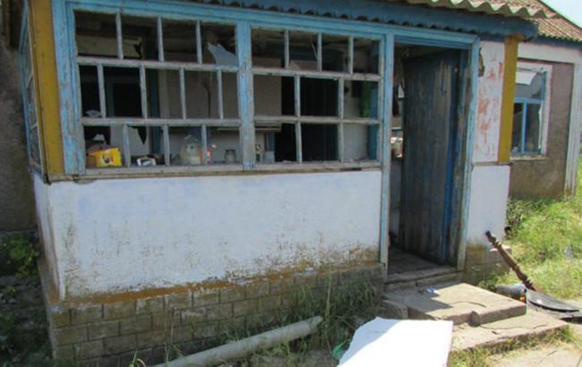 Фото: место взрыва в Херсонской области (http://www.hr.npu.gov.ua/)