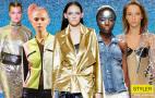 Фото: Деним, люрекс, мини-юбки и кожанки – хорошо знакомые тренды 90-х снова в моде (Коллаж Styler.rbc.ua)