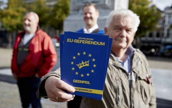 Фото: результати екзит-полу на референдумі в Нідерландах