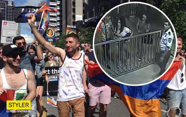 Представники ЛГБТ намагалися відбити у поліції свого активіста (відео)