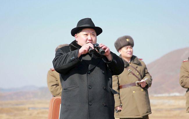 Фото: запуск ракеты в Северной Корее
