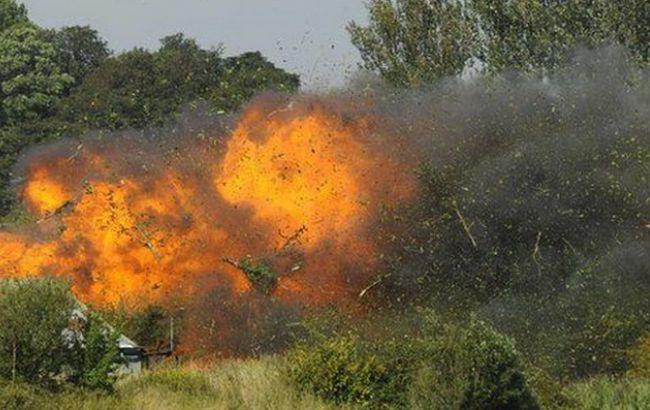 Фото: авария истребителя в Великобритании (ВВС)