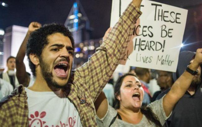 Фото: демонстрации в Шарлотте