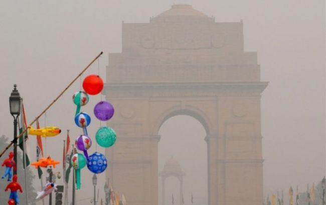Фото: смог в Индии