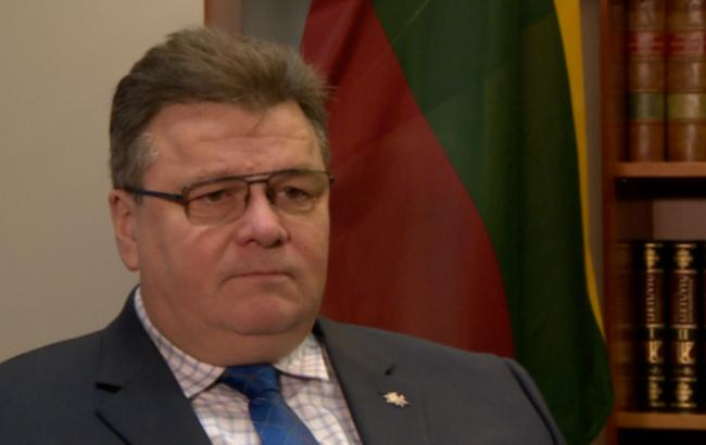 Фото: Министр иностранных дел Литвы Линас Линкявичюс