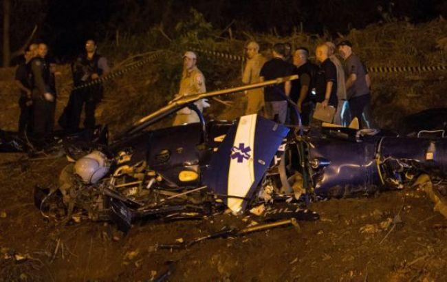 Фото: последствия падения вертолета в Рио-де-Жанейро