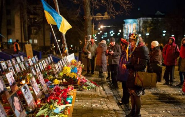 Фото: годовщина расстрела Майдана