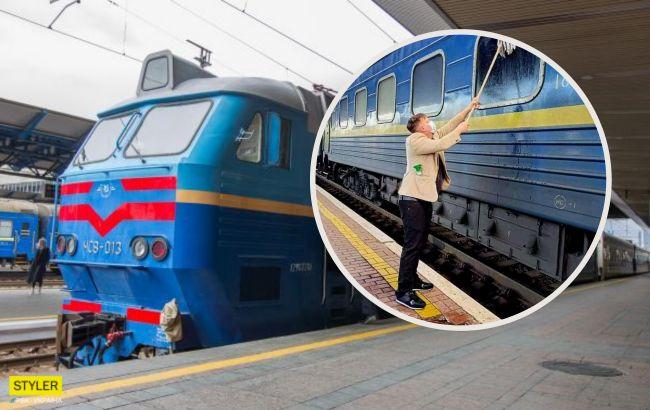 """Датчанин объяснил, почему мыл окно поезда """"Укрзализныци"""""""