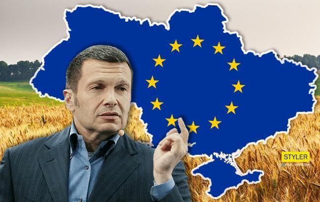 """""""Та це нісенітниця собача"""": на росТБ заявили, що Україна не є частиною Європи (відео)"""