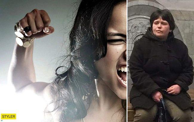 Вона ще жива? У харківському метро побили жінку-жебрачку (відео)