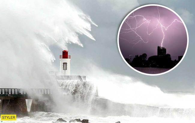 Убийственный штормво Франции:впечатляющие кадры стихийного бедствия