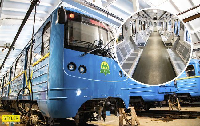 Киянам показали новий поїзд, який невдовзі з'явиться в метро