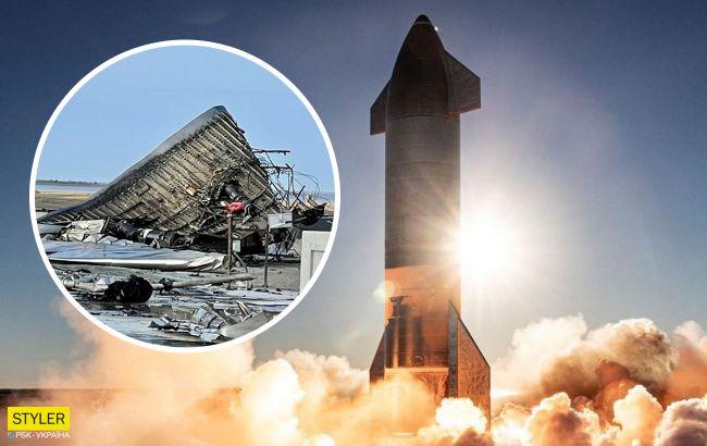 В сети показали обломки взорвавшегося космического корабля Маска