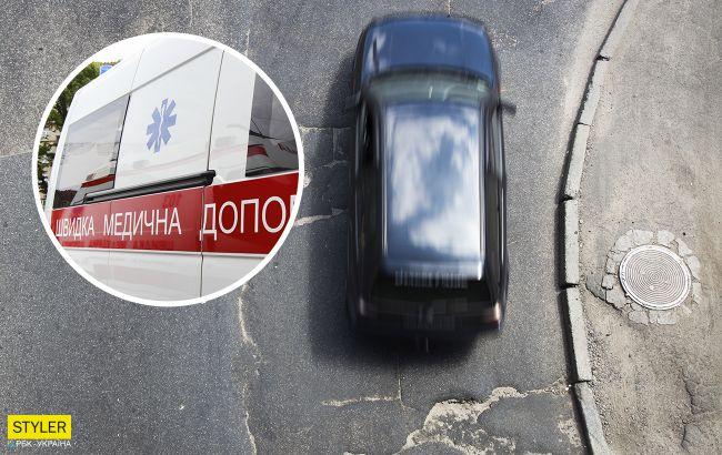 В Кропивницком мужчина из-за глубокой ямы на дороге остался без глаза (видео)