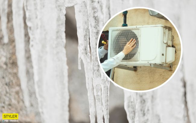 В Киеве коммунальщики сбивали сосульки вместе с кондиционерами: компенсацию никто не получит