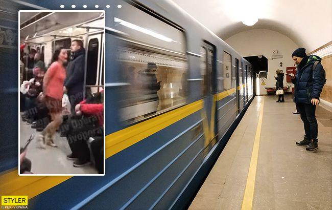 Она частенько так мочит: в киевском метро отличилась пассажирка (видео)