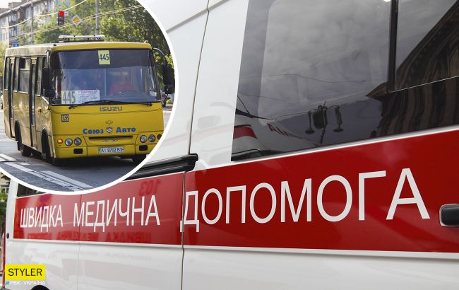 У Києві з маршрутки випала жінка: водій поспішав (відео)
