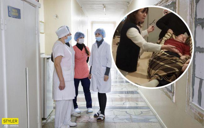 В Харькове пьяный врач принимала пациентов: скандальное видео слили в сеть