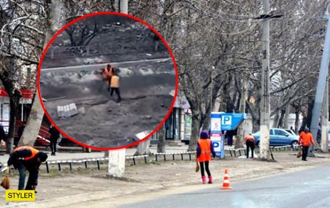 """""""Оболонские бои в грязи"""": в Киеве коммунальщики устроили драку"""