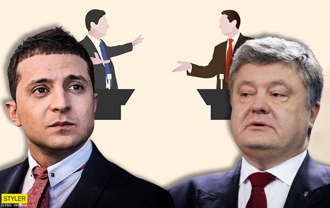 Теледебаты Зеленского и Порошенко: что нужно знать (инфографика)