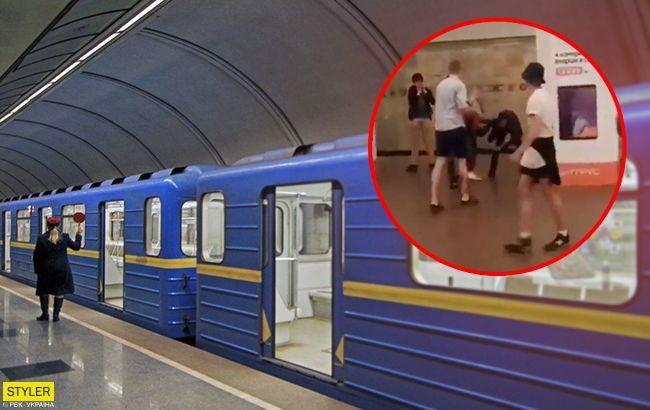 В Киеве из-за драки в метро задержали поезда: подробности инцидента (видео)