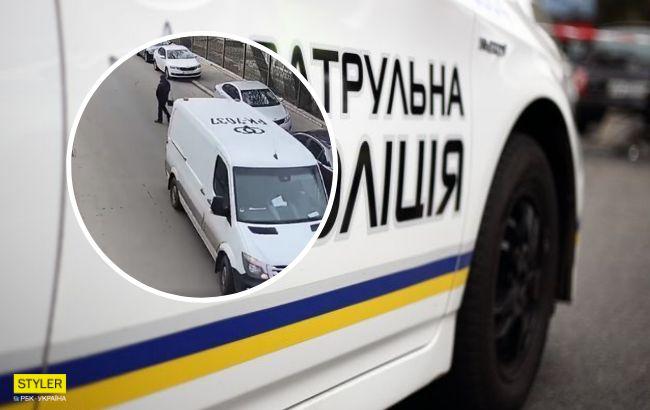 Ситуация неоднозначная: в Киеве странное ДТП попало на видео