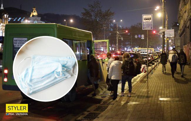 Не пустили без масок: неадекваты устроили драку и погоню за маршруткой по Киеву (видео)