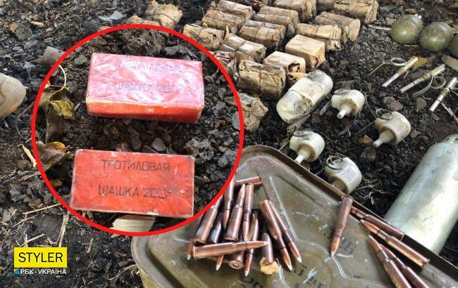 На Донбассе пограничники обнаружили тайное укрытие с боеприпасами: что там нашли (фото, видео)