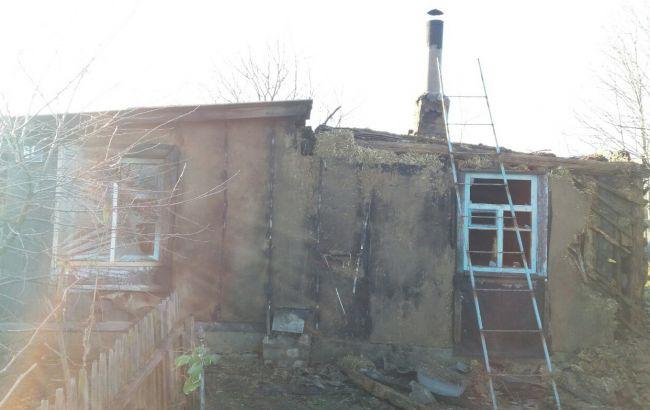 Фото: пожар в Харьковской области