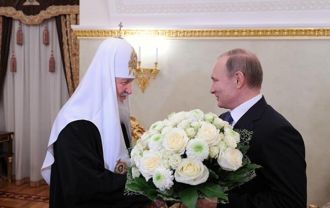 Фото: Володимир Путін і патріарх Кирило (ТВ-Центр)