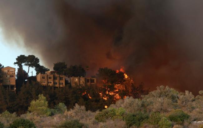 Фото: Пожежа в Хайфі (163gorod.ru)