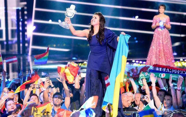 Фото: Євробачення 2016 - перемога Джамали (piroslapok.blog.hu)