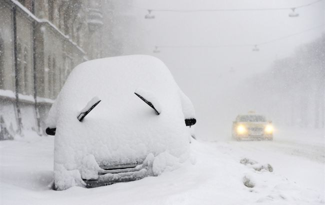Фото: снегопад в Киеве