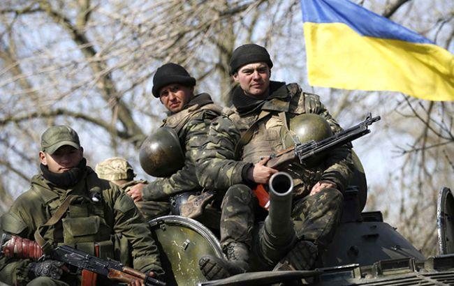 Фото: украинские военные в АТО