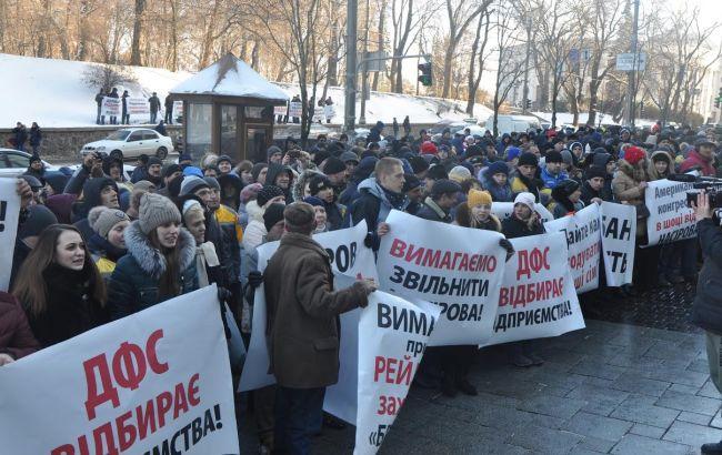 """Фото: митинг сотрудников """"БРСМ-Нафты"""" 30 ноября"""