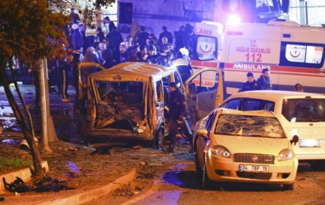 Фото: взрыв в Стамбуле