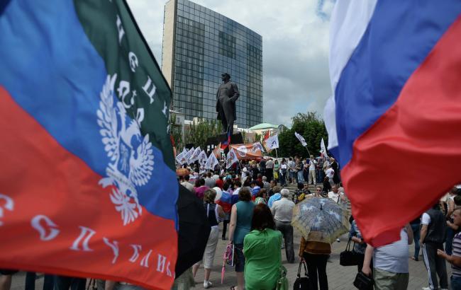 Мітинг ДНР в Донецьку