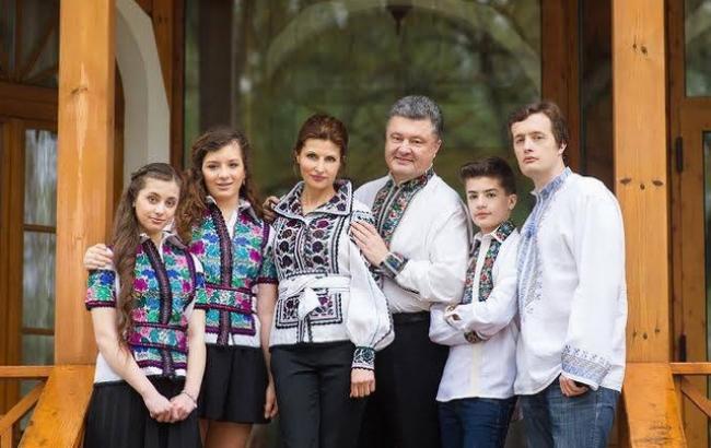 Фото: Петро Порошенко з сім'єю (bulvar.com.ua)