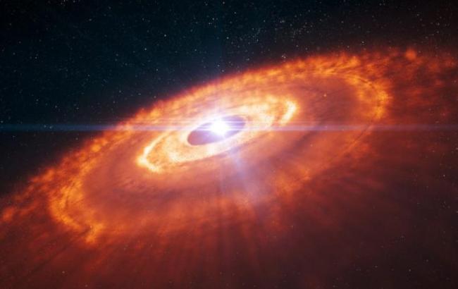 Фото: Зародження зірки в космосі (Newstes.ru)