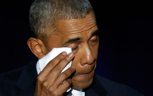 Барак Обама не стримав сліз під час прощальної промови