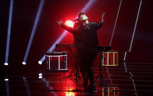 Фото: KADNAY на сцені півфіналу Нацвідбору (РБК-Україна)