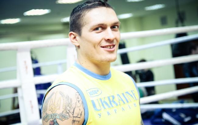 Александр Усик - обладатель чемпионского титула по боксу