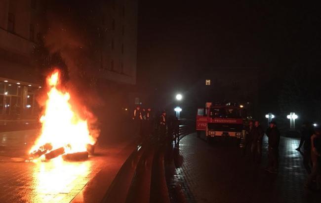 У Рівному, Львові та Івано-Франківську мітингували за блокаду Донбасу