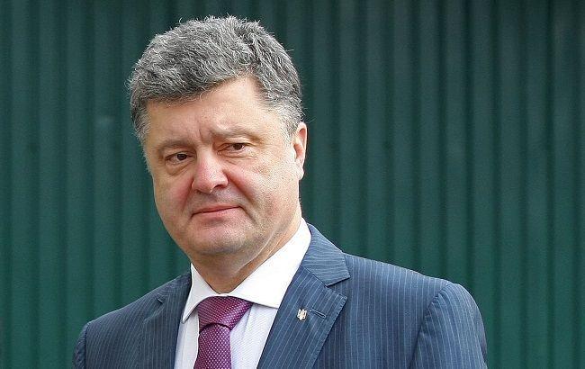 Порошенко ввёл вдействие решение опрекращении грузовых перевозок сДонбассом