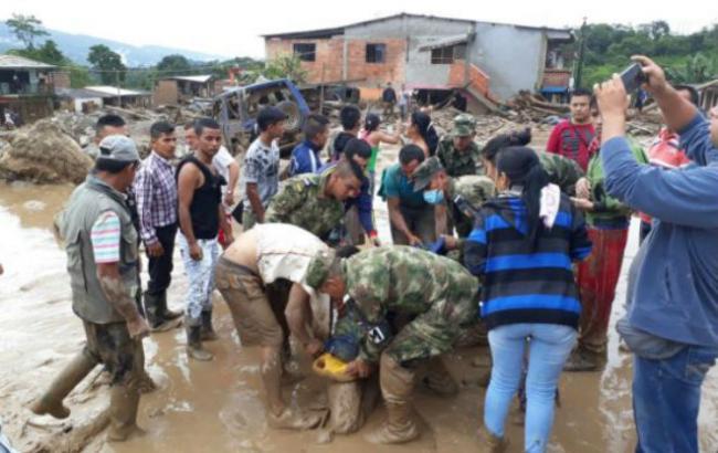 Фото: оползень в Колумбии
