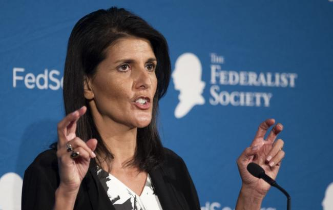 Фото: постпред США в ООН Ники Хейли не исключает новых ударов по Сирии