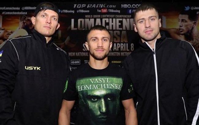 Фото: Усик, Гвоздик и Ломаченко