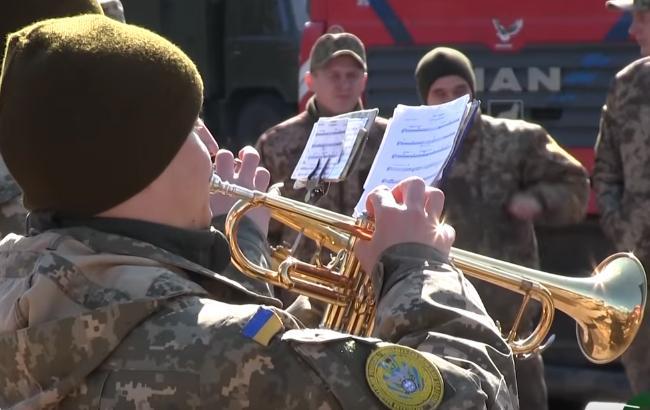 Військовий оркестр заграв для бійців АТО під відкритим небом