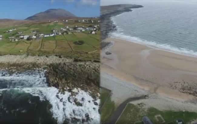 На ірландський острів через 30 років повернувся піщаний пляж