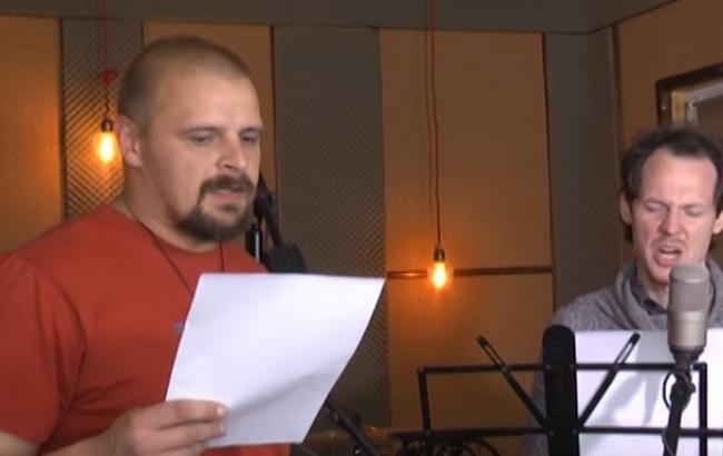 """Украинский боец спел с лидером группы """"Тінь Сонця"""""""
